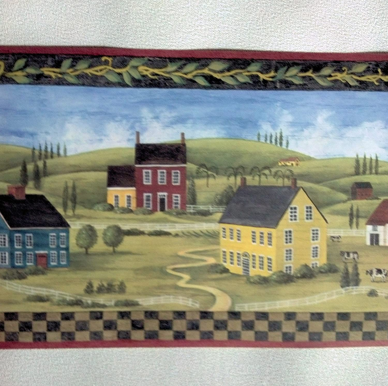 Primitive Countryside Country Wallpaper Border MCB5700