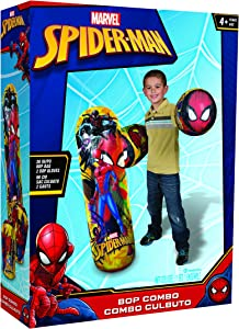 """Hedstrom Spider-Man Bop Combo Inflatable Punching Bags and Gloves, 36"""", Red"""