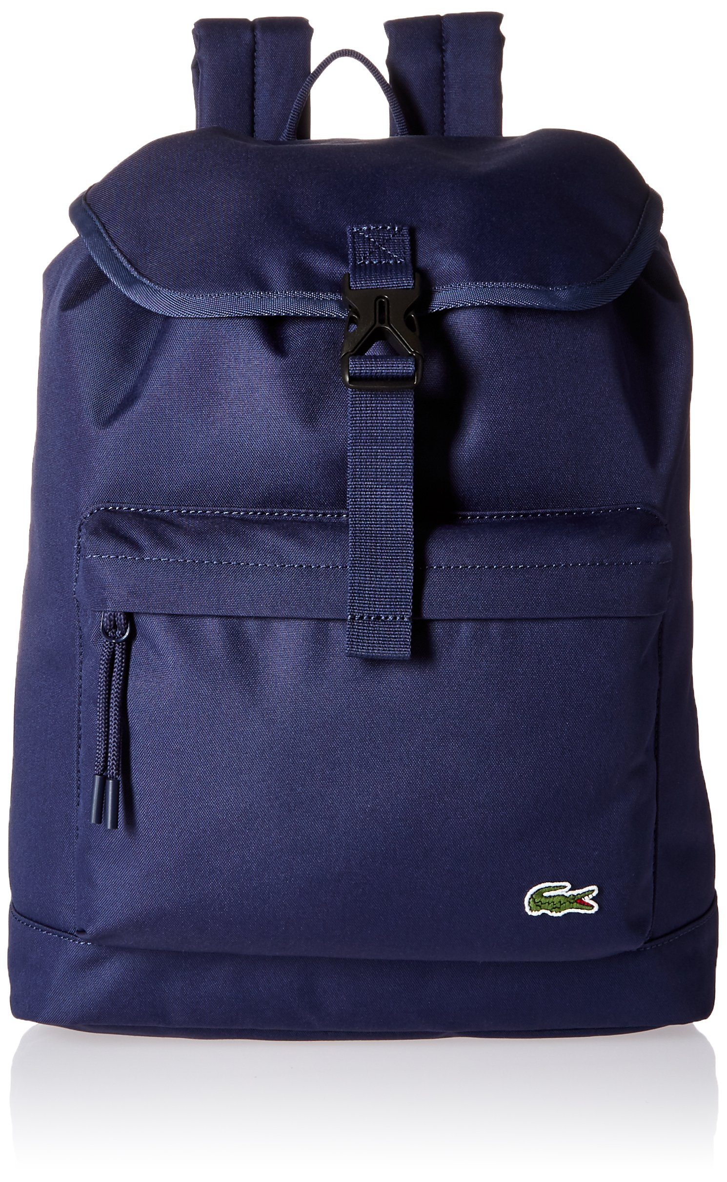 Lacoste Men's Flap Backpack, Peacoat