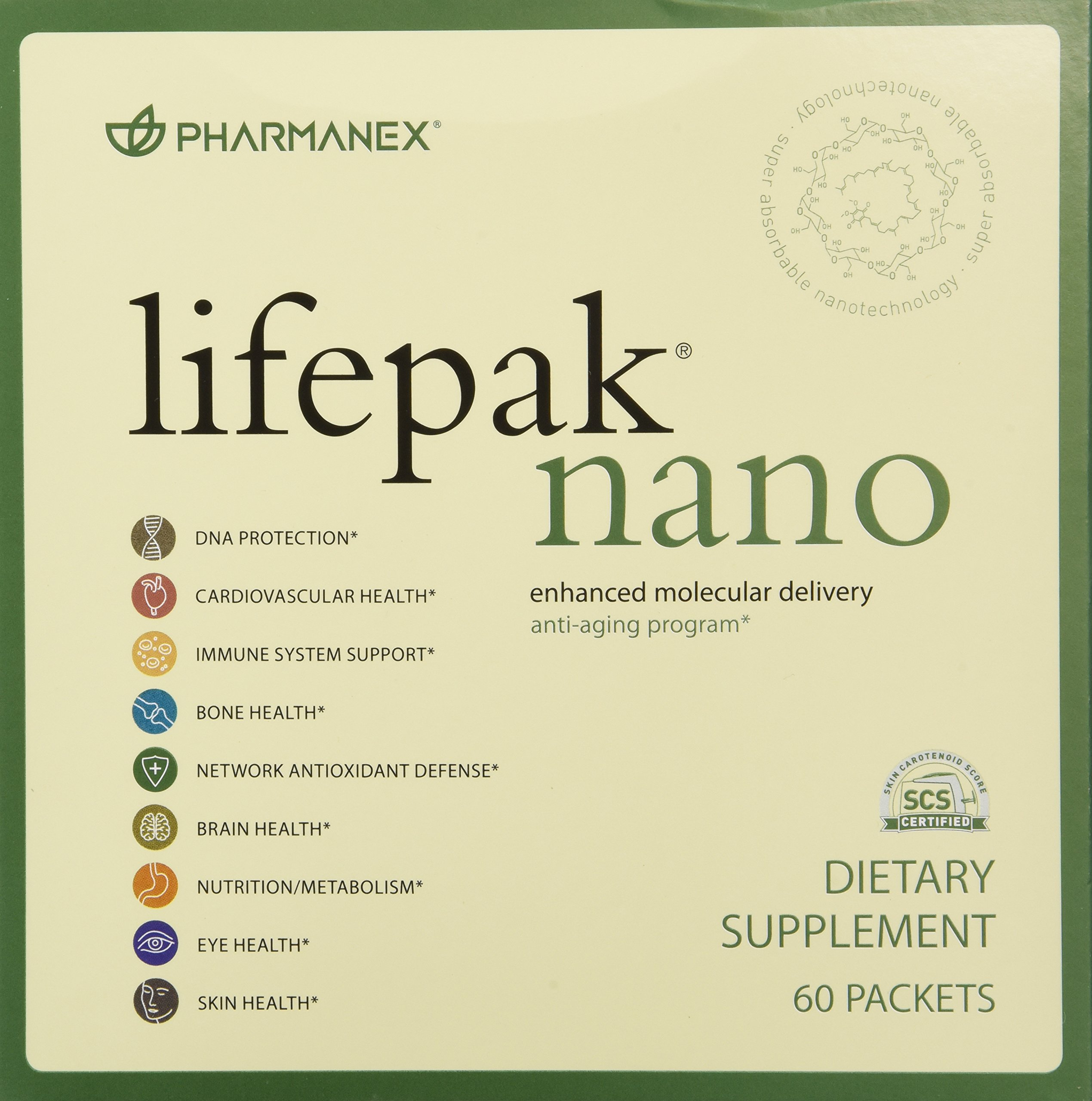 Pharmanex LifePak Nano anti-aging dietary supplement - 60 packets by LifePak NANO (Image #1)