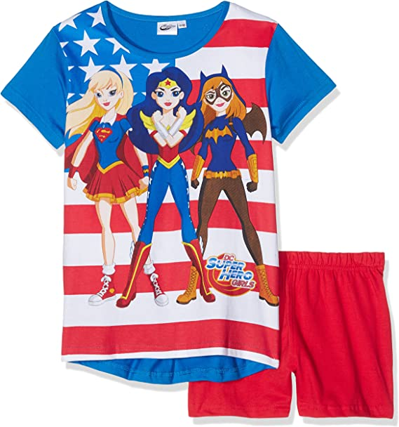 Fille 3 a 4 Ans DC Superhero DC Superhero Ensemble De Pyjamas
