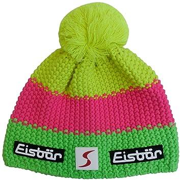 Eisbär Star Neon Pom Pom Hat Multi-Coloured Neongrün Neonpink Neongelb Size  07486d1c9894