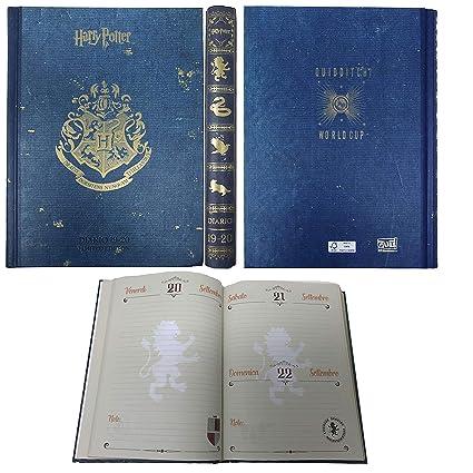 Harry Potter – Agenda escolar de 16 meses, año 2019-20 – Producto oficial – Dimensiones 18,3 x 13,7 cm aprox, páginas en italiano con tapa rígida