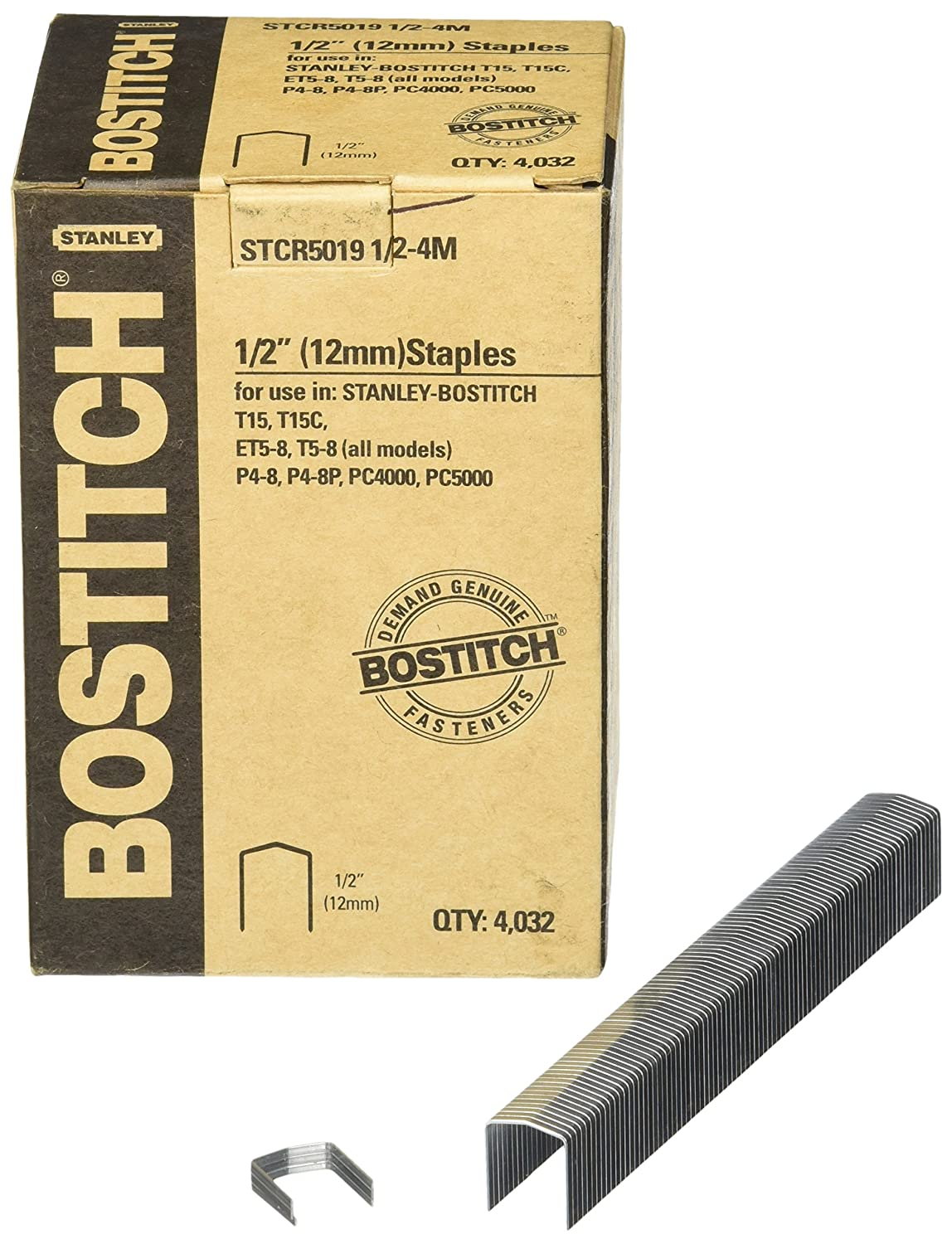 Bostitch STCR50191//2-4M 1//2-Inch by 7//16-Inch Heavy-Duty PowerCrown Staple 4,032 per Box