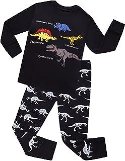 42f3c8c34521 Amazon.com  ANTSANG Boys Dinosaur Pajamas Sleepwear Clothes 100 ...