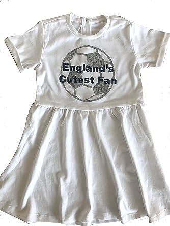 d0c80e27dd9 Little Secrets Childrens Clothing Girl s Englands Cutest Fan Football White  Dress