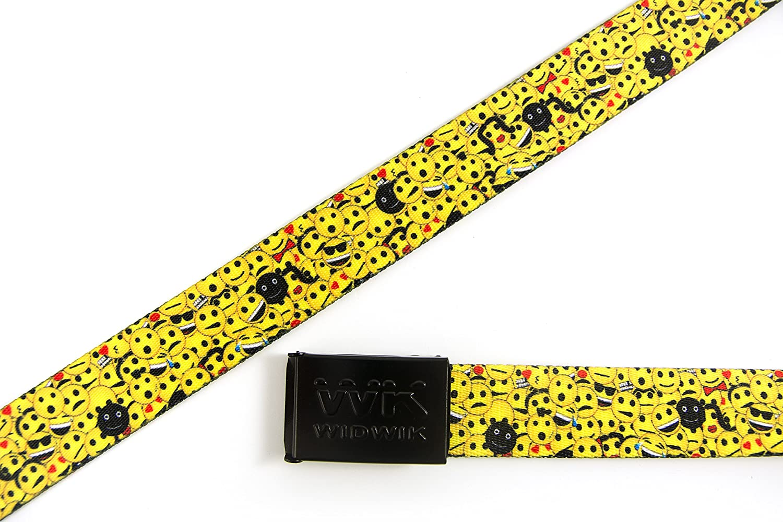 WK WIDWIK Cintur/ón de Caras Felices Emoticonos divertido cinto para ni/ños y adultos