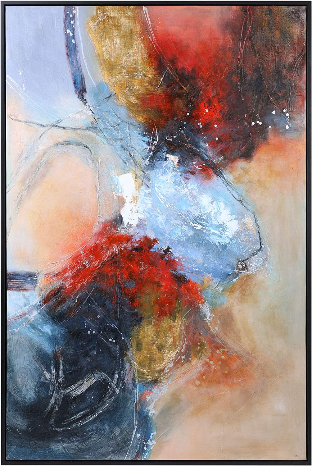 Fine Art Print Blue Abstract Abstract Painting Red Blue Art Print Large Abstract Painting abstract giclee Red Blue Modern Painting