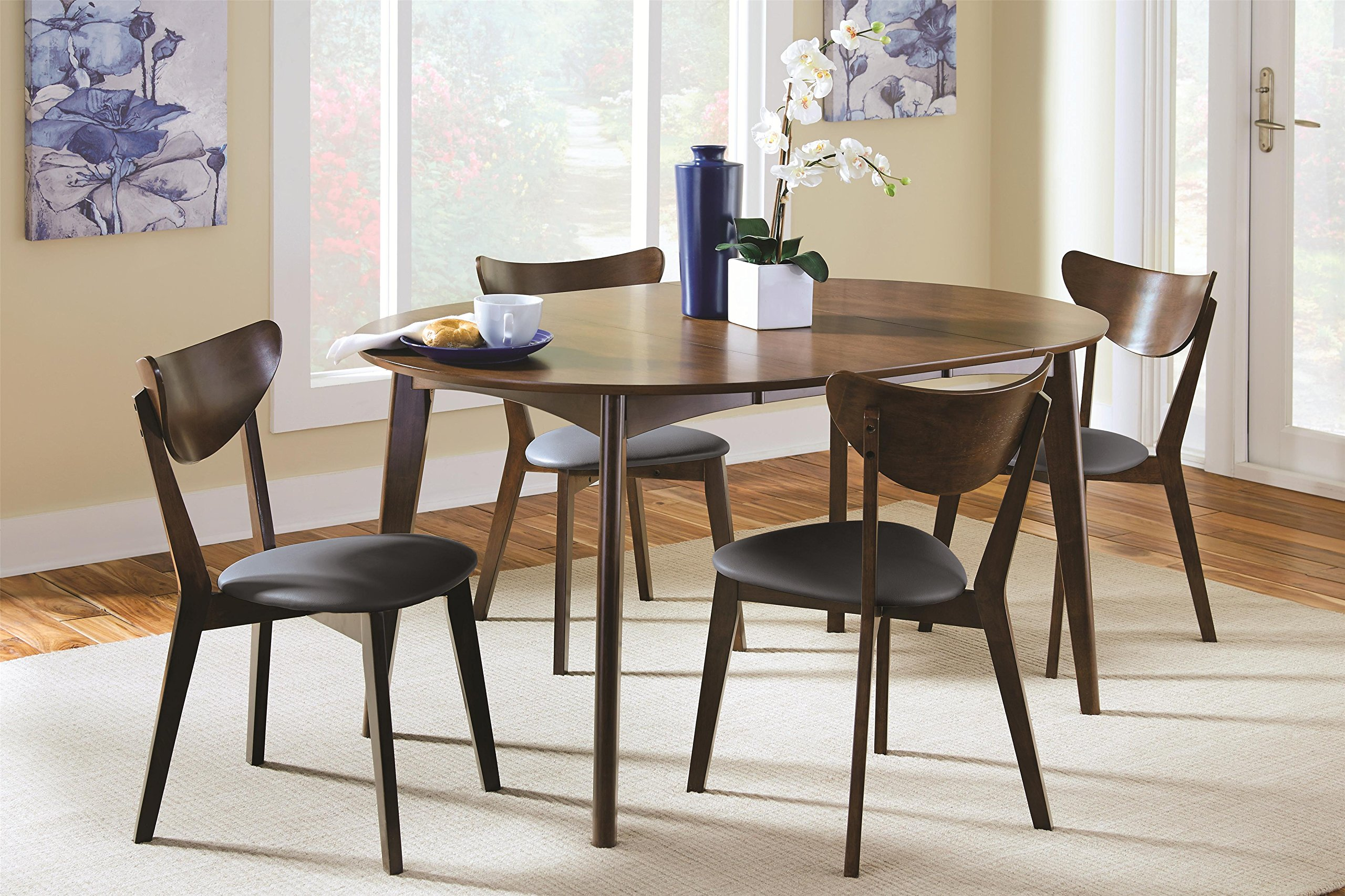 Awe Inspiring Malone 5 Piece Oval Dining Table Set By Coaster Home Furnishings Gmtry Best Dining Table And Chair Ideas Images Gmtryco