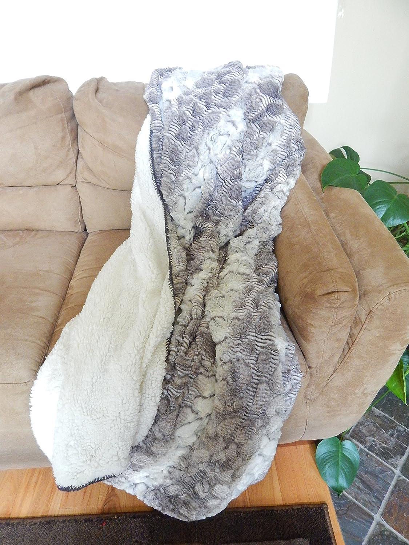 Regal Comfort Snake Skin Sherpa Faux Mink Blanket Throw