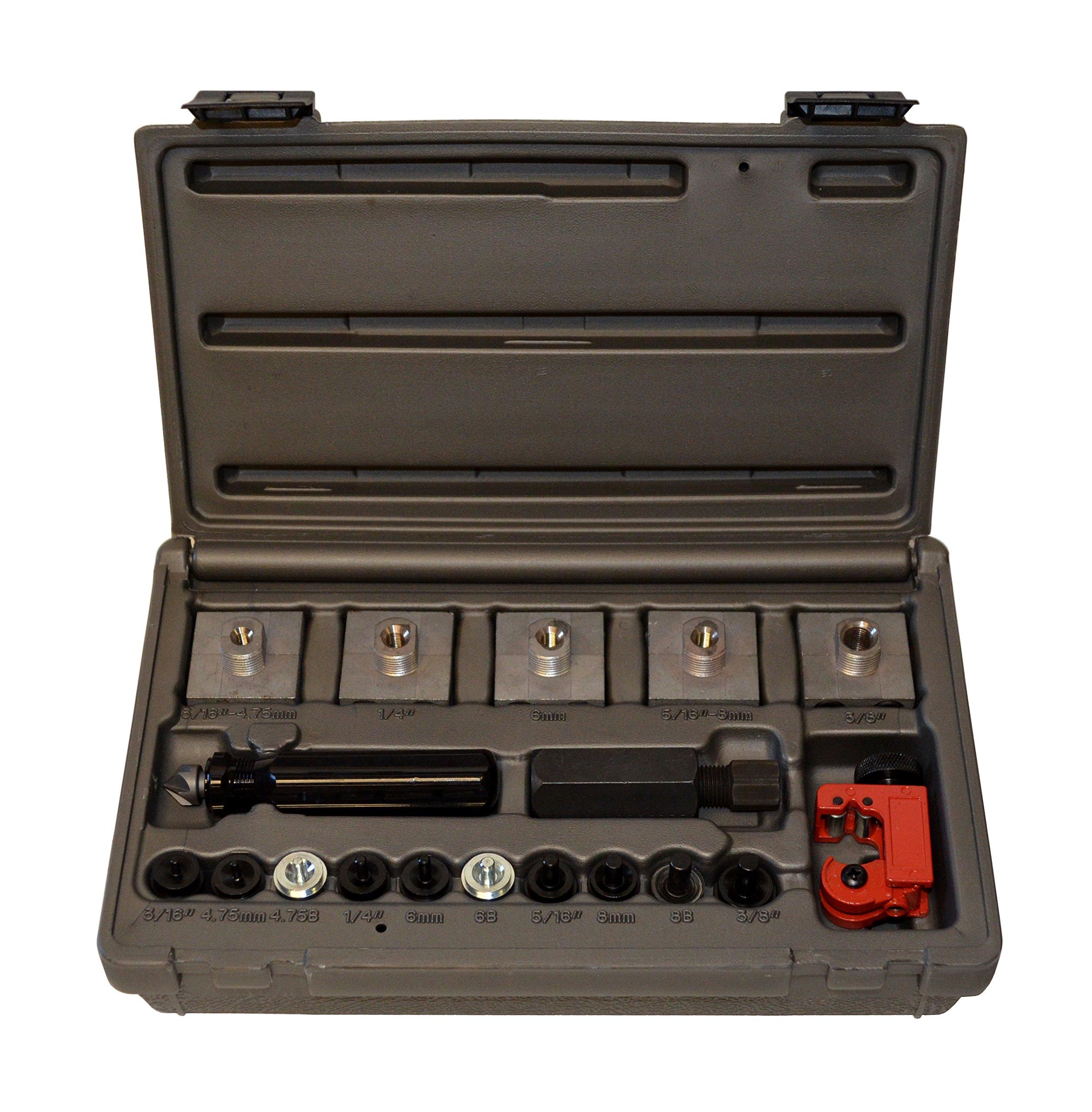 Cal-Van Tools 165 Master Inline Flaring Kit - Double and Single Flares, Brake Flaring Tools. Professional Tool Kit