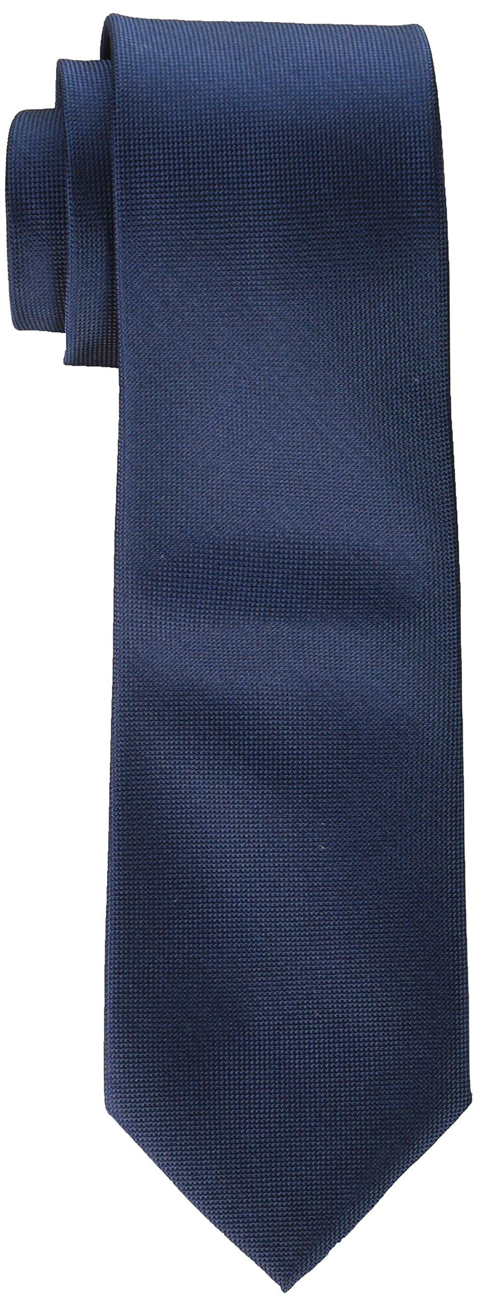 Calvin Klein Men's Oxford Solid Tie, Navy, Regular