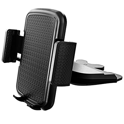 Amoner Car Phone Mount, CD Slot Phone Holder, Universal CD Phone Mount Cell Phone Holder for Car Compatible with iPhone 11/11Pro/Xs MAX/XR/XS/X/8/8Plus, Galaxy S10/S10+/S10e/S9/S9+/N9/S12, Google