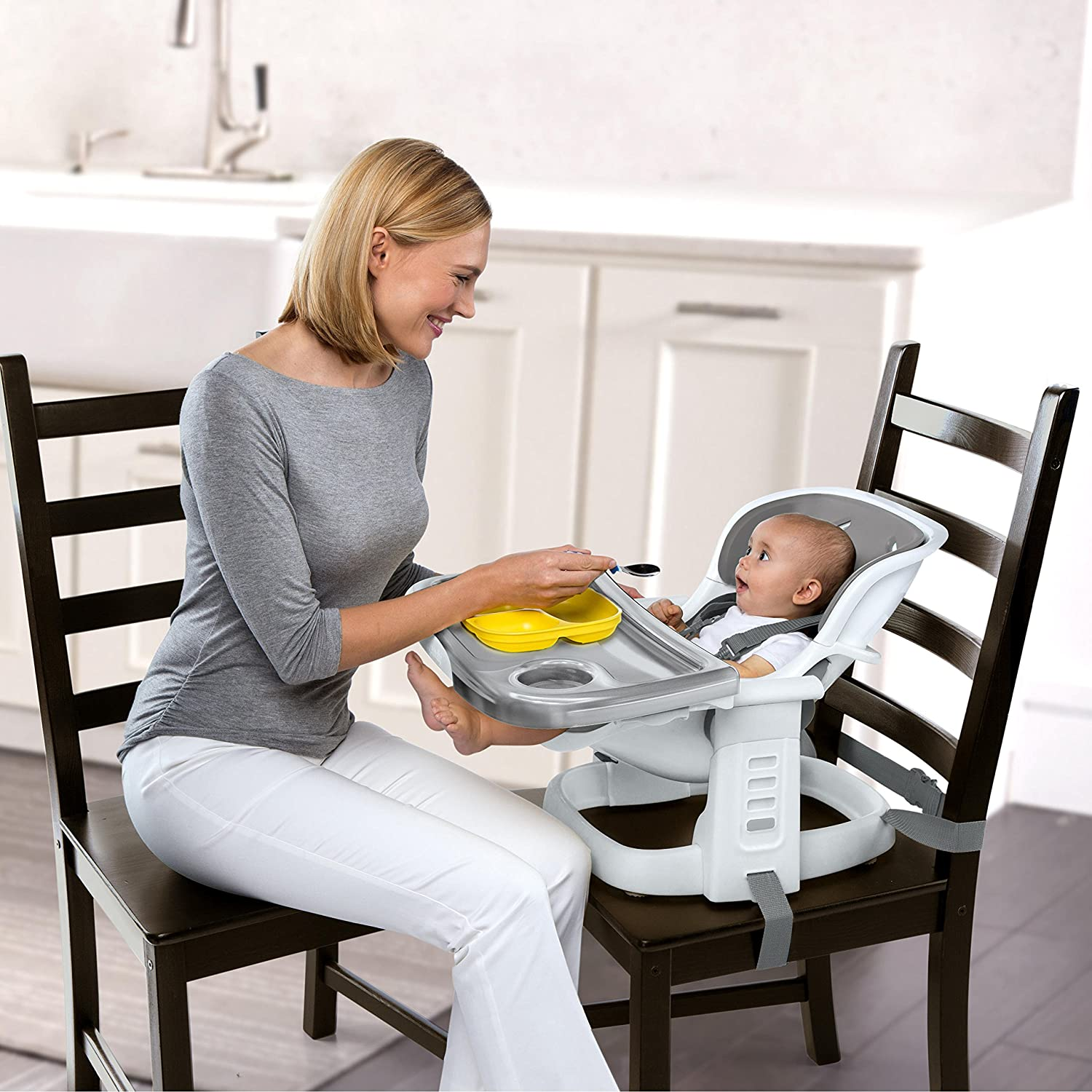 Peacock Blue Ingenuity SmartClean ChairMate High Chair