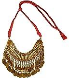 Sansar India Bohemia Gypsy Vintage Coin Choker Necklace For Girls & Women