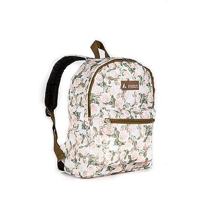 Everest Kids' Basic Pattern Backpack, Vintage Floral, One Size | Kids' Backpacks