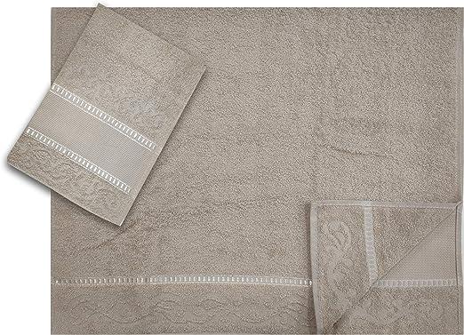 Panini Tessuti - Juego de 2 toallas grandes y pequeñas Tela Aida 9 ...