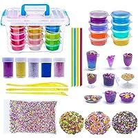 WonderforU Slime Kit, 8 Pack Argile Non Toxique Slime, Jouets Magic Clay pour Enfants