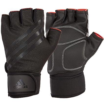Adidas Elite Guantes de Entrenamiento, Color Negro, Talla Grande