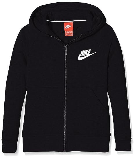 fdb5124cfc48 Nike G NSW MDRN Hoodie FZ GFX - Sweatshirt Schwarz  Amazon.de  Sport ...
