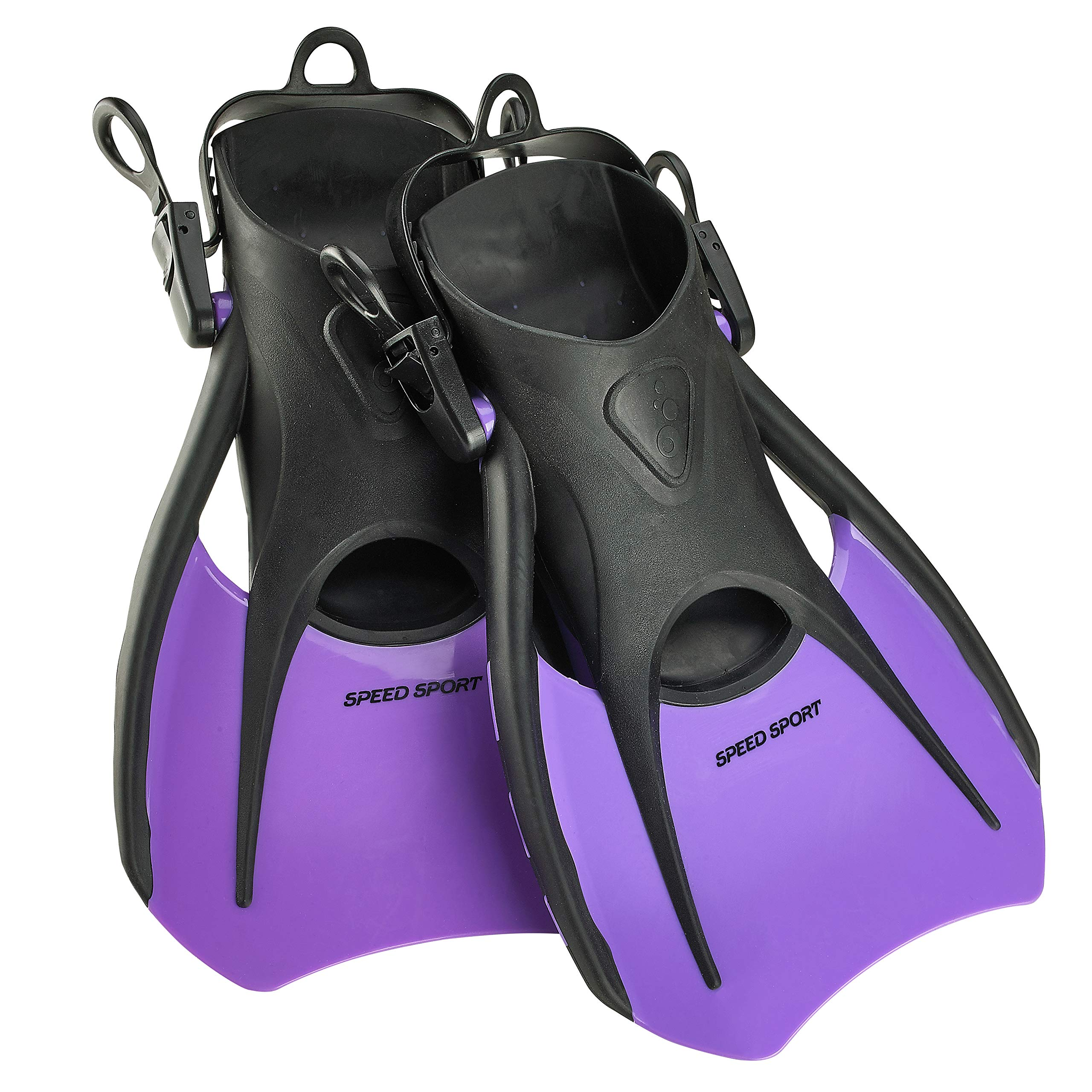Phantom Aquatics Snorkeling Diving Fins - Open Heel Traveling Sport Fins - PR-SM