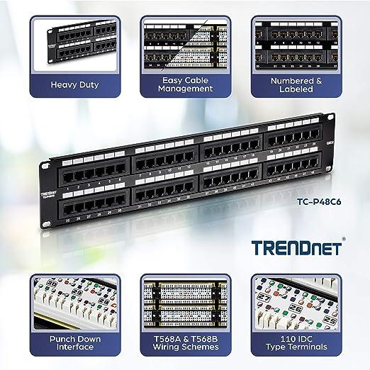 Trendnet 48 Port Kat6 Ungeschirmtes Patch Panel Elektronik