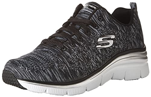 f4fa755667 Skechers (Skees) Fashion FIT- Style Chic - Zapatillas de Deporte para  Mujer, Color Negro, Talla 39.5: Amazon.es: Zapatos y complementos