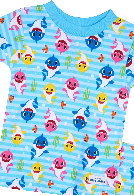 Baby Shark Boys 4-Piece Cotton Pajama Set