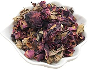 PEPPERLONELY 1 oz Organic Kosher Certified Botanical Dried Edible Rose Buds & Petals