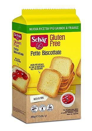 Dr. Schar Biscotes Pan tostado SIN GLUTEN - 260 gr: Amazon ...