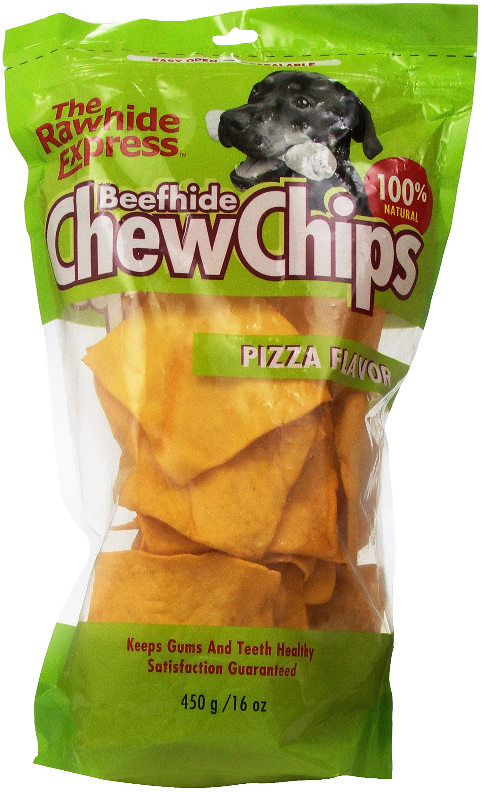 The Rawhide Express Pizza Flavored Strips/Chips Dog Chew, 1-Pound
