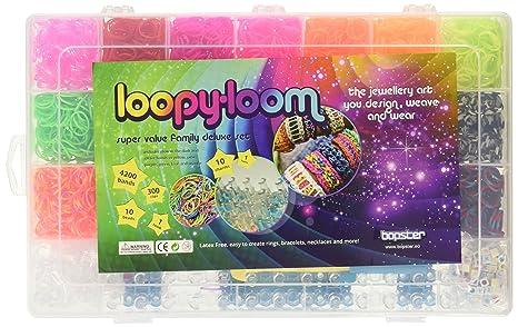 Loopy Loom 4200 Elastici Deluxe Box Set Grande Braccialetti Di Gomma