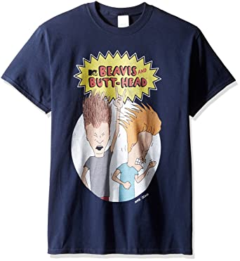 23977701e5bd1 Nickelodeon Men s Beavis and Butt-Head Rock Out T-Shirt  Amazon.in   Clothing   Accessories