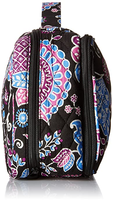 5f50b9760a Amazon.com  Vera Bradley Luggage Women s Large Blush   Brush Makeup Case  Alpine Floral Cosmetic Bag  Shoes