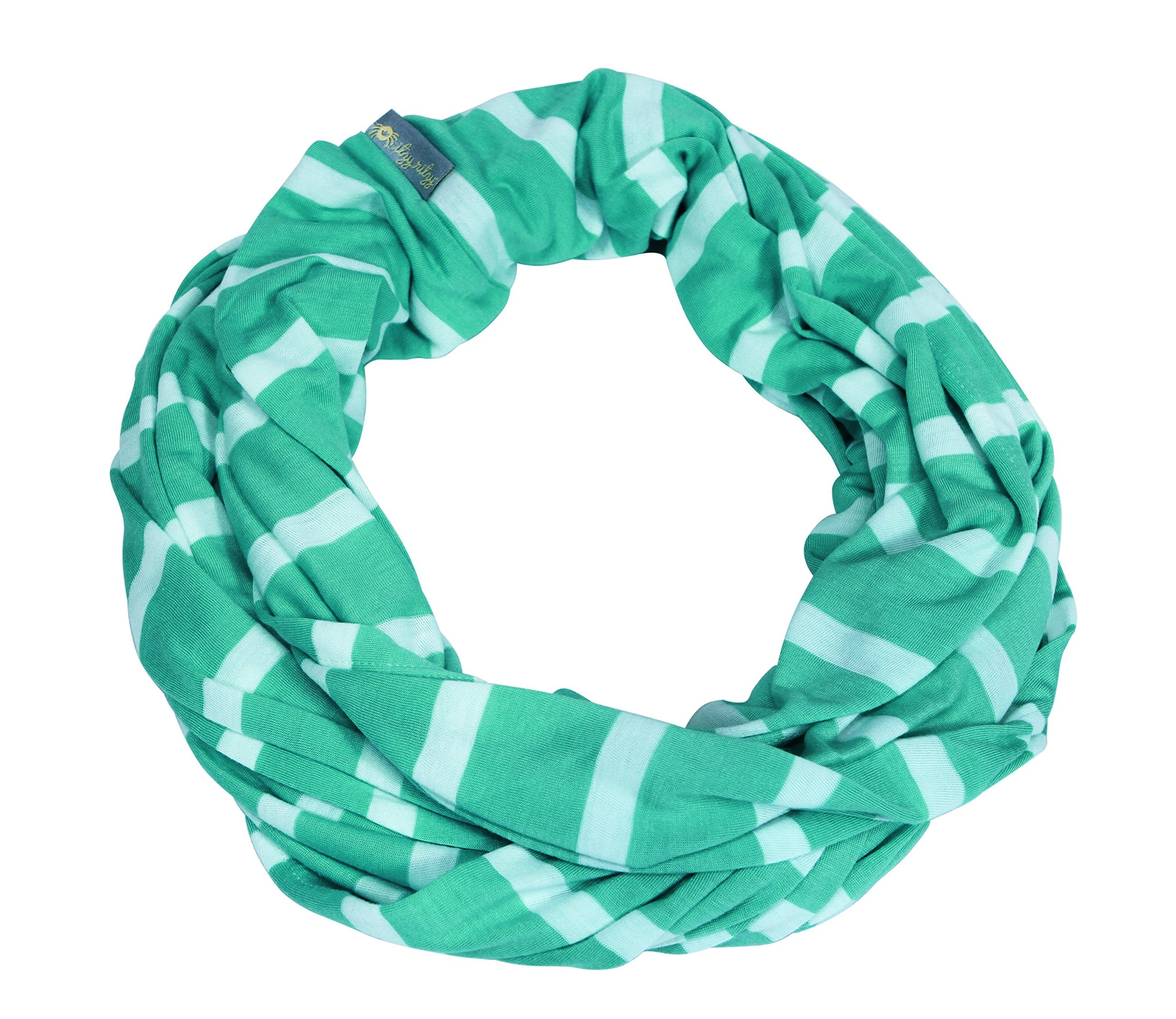 Itzy Ritzy Breastfeeding Cover and Infinity Nursing Scarf - Nursing Cover Can Be Worn as a Scarf and Provides Full Coverage While Nursing Baby, Seaside Stripe