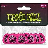 Ernie Ball 9189 Everlast Medium Plektrum - Fluoreszierend, Delrin - 12 Stück