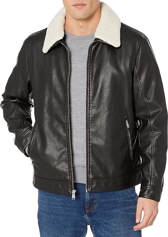 Tommy Hilfiger 汤美费格 经典款 男式仿皮夹克 S码2.8折$28.4 海淘转运到手约¥321