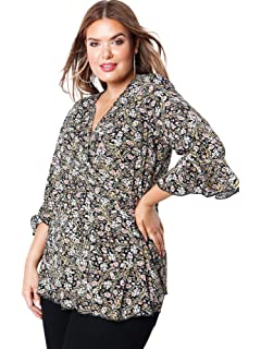 630c94d9ce7af Koko Women s Plus Size Black Bardot Top with Lattice Sleeve · £28.00 ·  Lovedrobe GB Women s Floral Wrap Top Ladies Plus Size 16-26