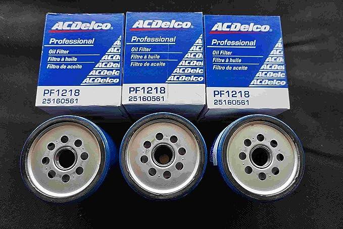 3 X Ac Delco Oil Filter Pf1218 25160561 Pf1218 F Auto