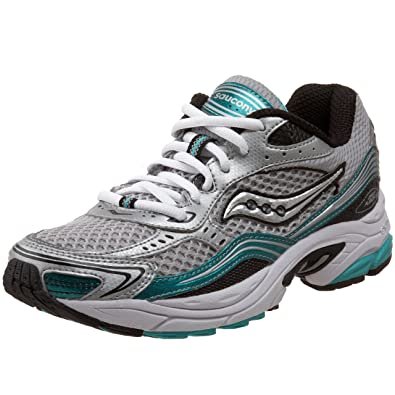 Saucony Women's Grid Fusion 3 Running Shoe,Silver/Black/Green,5 M