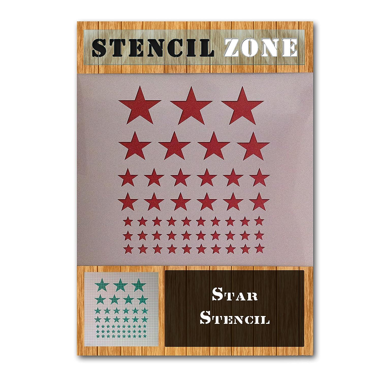 Pochoir /étoiles Mylar pour peinture a/érographe ou peinture murale huit A4 Size Stencil Small