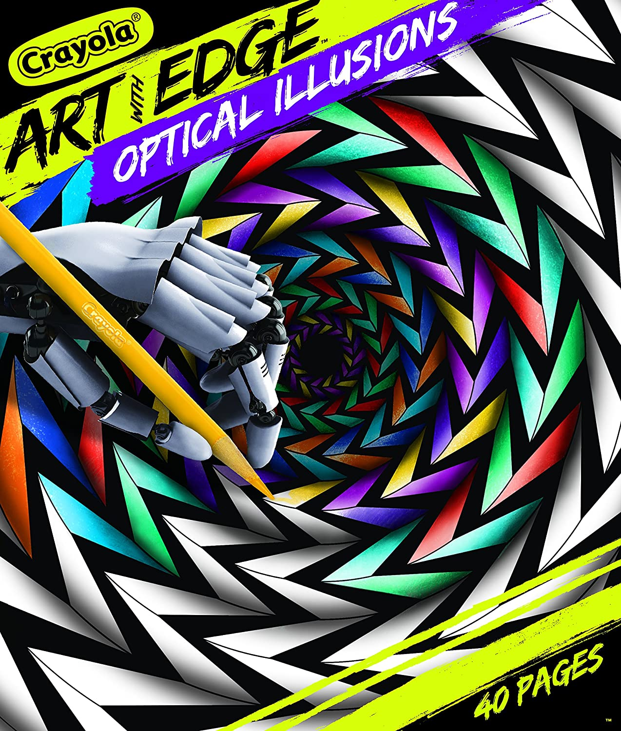 Optical Illusions (Op Art) - Coloring Pages for Adults | 1500x1274