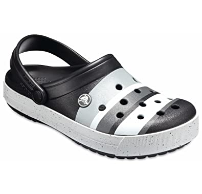 0b4758c67 crocs Unisex Black and Light Grey Clogs-M8W10 191448193000  Buy Online at Low  Prices in India - Amazon.in