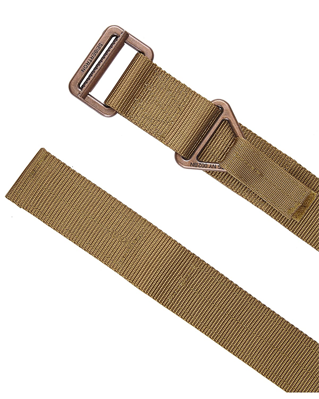 Seibertron Mens Utility TDU 1.75-Inch Nylon Tactical CQB//Riggers Military Combat Duty Belt Metal Buckle 3 Years Warranty