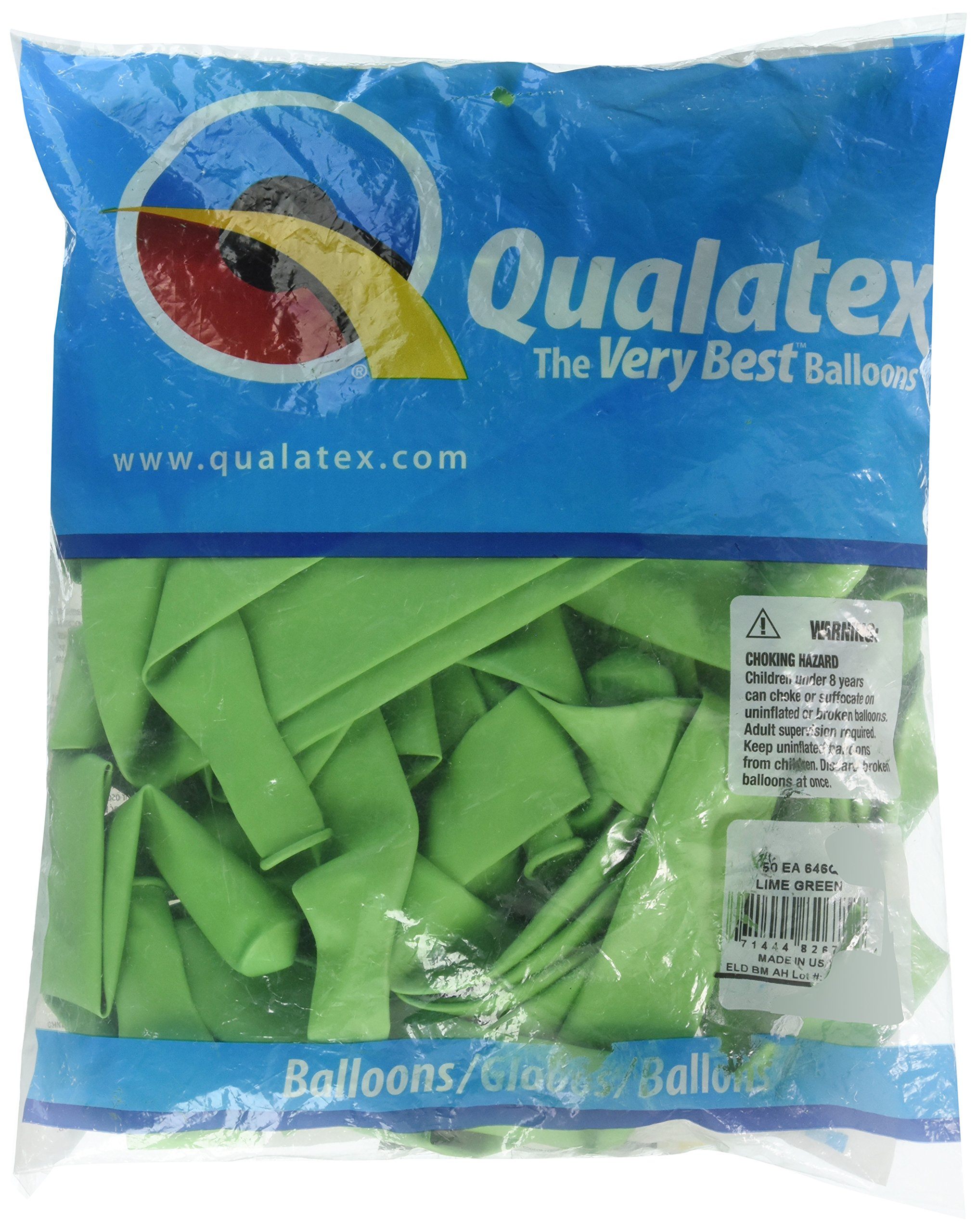 Qualatex 646Q Large Twisting Balloons, Lime Green – Pack of 50
