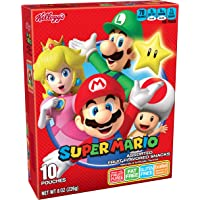 Super Mario, Fruit Snacks, Assorted Fruit Flavored, Gluten Free, Fat Free, 8oz Box (10 Count)