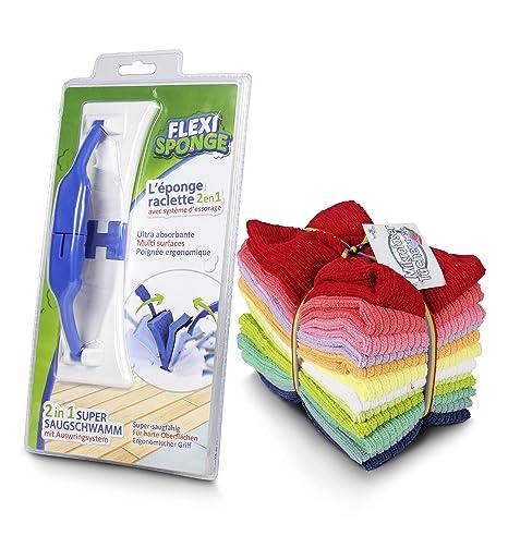 Set Flexi Sponge + – Juego de 12 toallas de microfibra de la definitiva 2 en