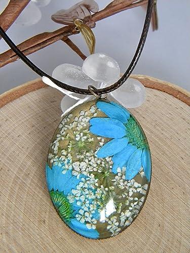 Amazon handmade dried flower necklace bronze necklace ladies handmade dried flower necklace bronze necklace ladies pendant necklace real flower necklace mozeypictures Choice Image
