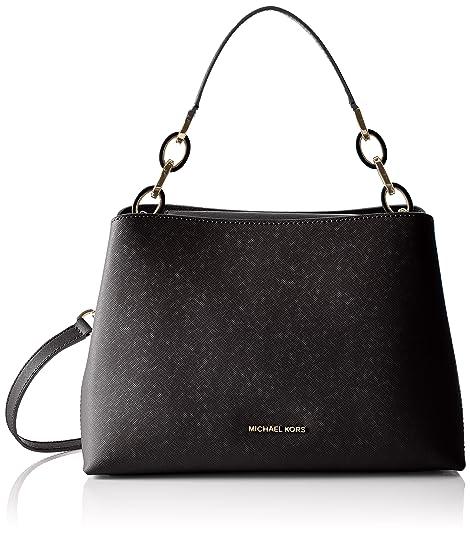 Michael Kors Bolso asa de mano PORTIA 30T6GPAL3L LG EW SHL Negro 30x21x12 cm (B x H x T): Amazon.es: Zapatos y complementos
