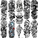 11 Sheets NEZAR Extra Large Soldier Air Force Military Full Arm Temporary Tattoo Sleeve For Men Women Adults Army 4th fourth